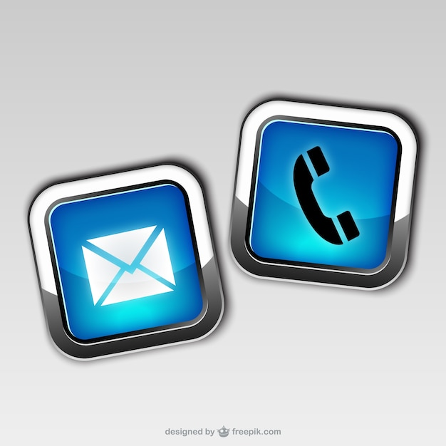 Contact icons Free Vector