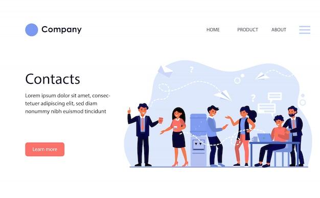 Методы контакта между коллегами. шаблон веб-сайта или целевая страница Бесплатные векторы