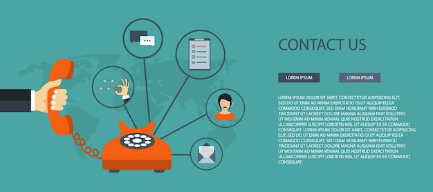 contact us template free download contact us banner template vector free download