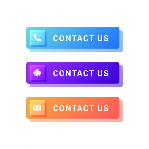 Contact us buttons illustration Premium Vector