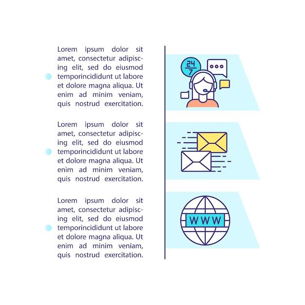 Свяжитесь с нами значок концепции с текстом Premium векторы