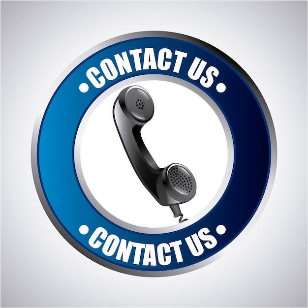 Contact us design Premium Vector