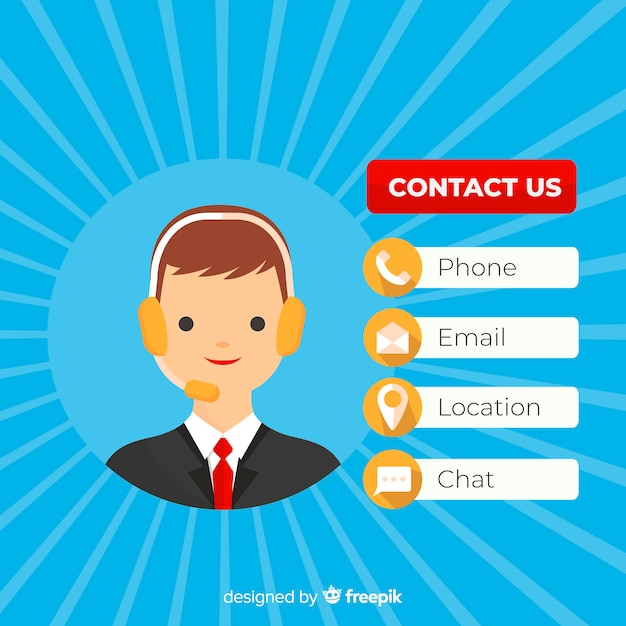 Contact us Free Vector