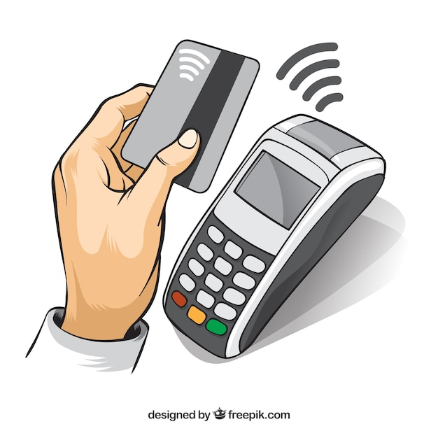 Contactless background design Free Vector