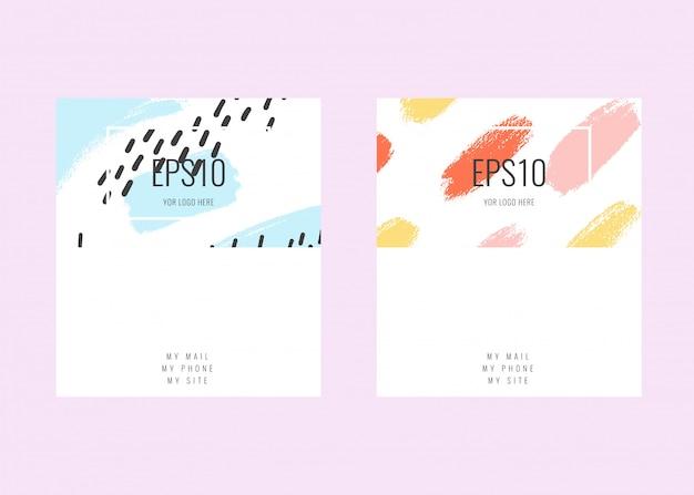 Contemporary universal business cards templates. namecard design Premium Vector