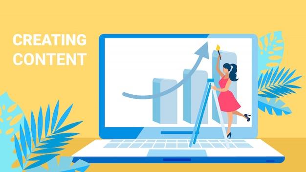 Content creating   Premium Vector