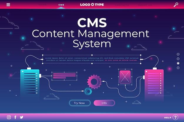 コンテンツ管理システムのウェブサイト Premiumベクター