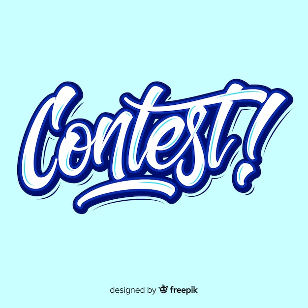 Contest lettering Free Vector