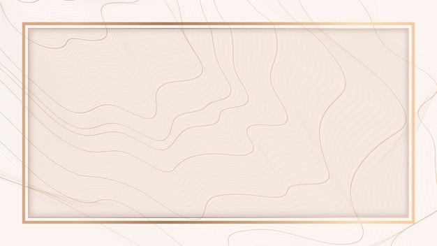Contour line background frame Free Vector