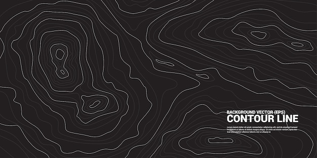 Contour line background graphic. concept of simple geography and terrain Premium Vector