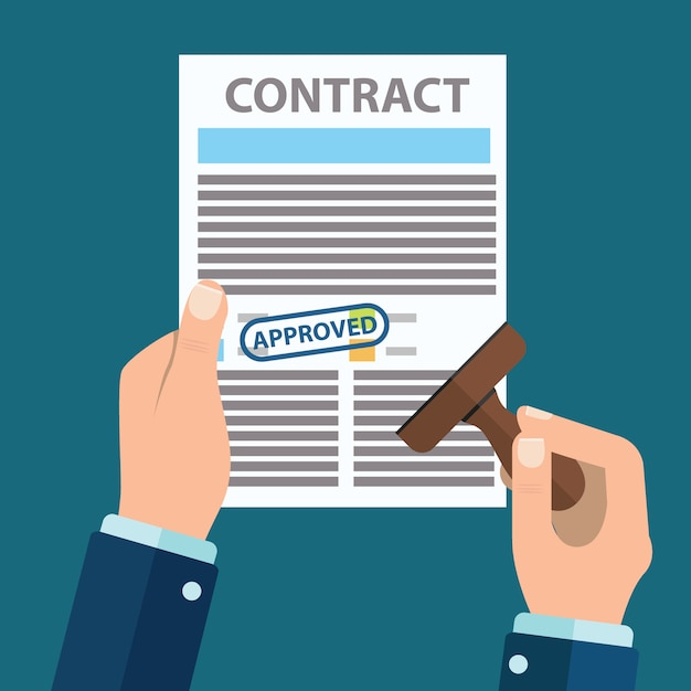 Contract background design Free Vector