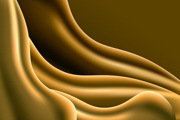 대조 부드러운 황금 물결 배경 무료 벡터