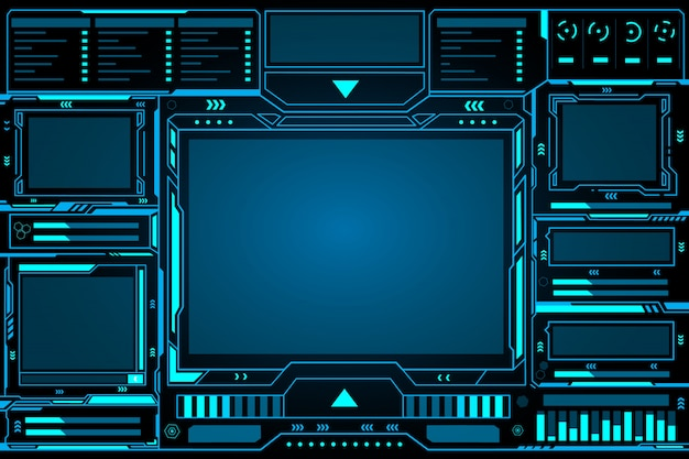 Control panel abstract technology futuristic interface hud Premium Vector
