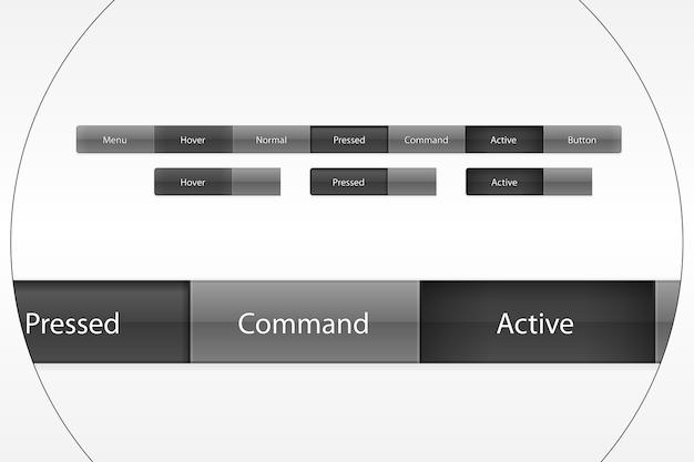 Il menu principale del pannello di controllo del sito Vettore gratuito
