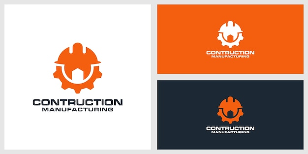 Contruction logo design premium Premium Vector