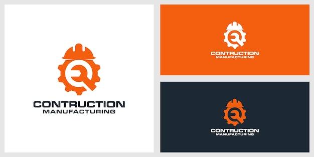 Contruction logo design premium Premium Vector