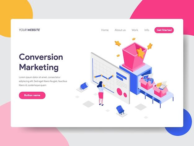 Conversion marketing illustration Premium Vector