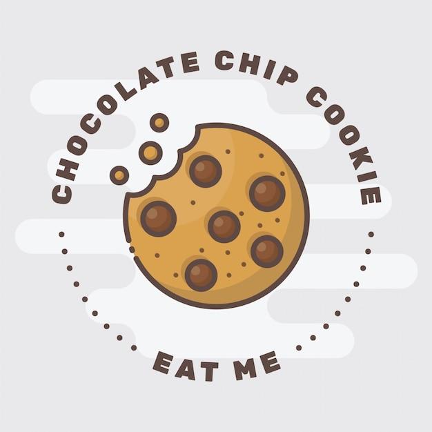 Cookie badge logo Premium Vector