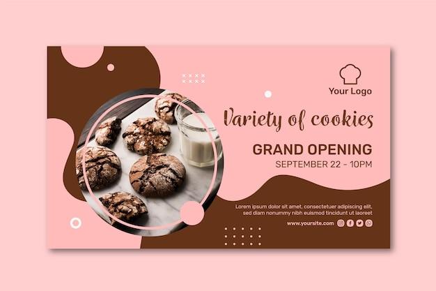 Шаблон рекламного баннера cookie Premium векторы