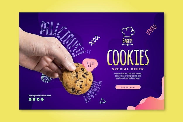 Шаблон баннера cookie Premium векторы