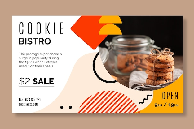 Cookies banner template Free Vector