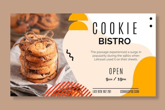 Cookies banner template Free Vector