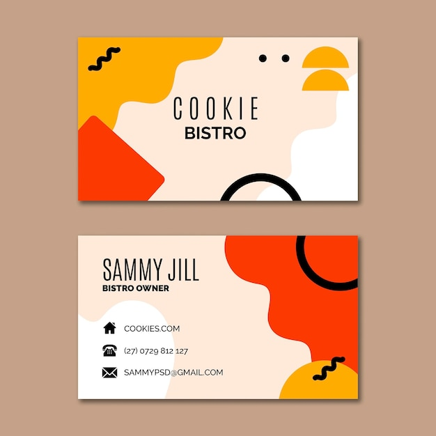 Cookies business card template Premium Vector