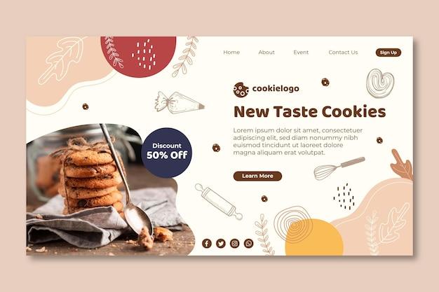 Cookies landing page Free Vector