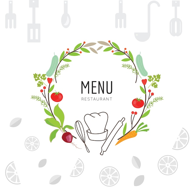 Cooking background design Vector | Free Download