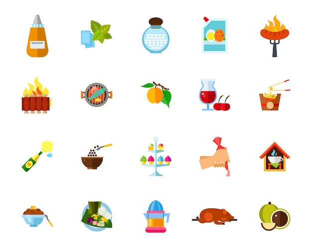 Cooking icon set Free Vector