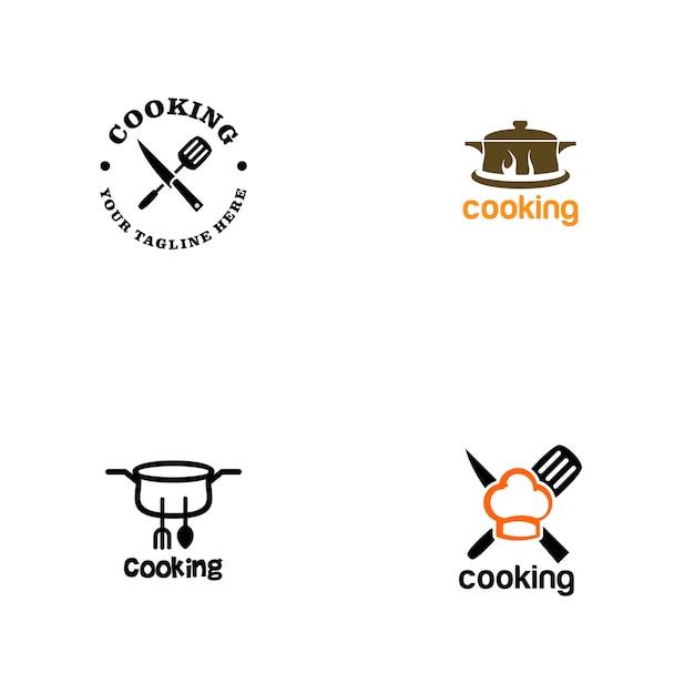 Cooking logo Premium Vector