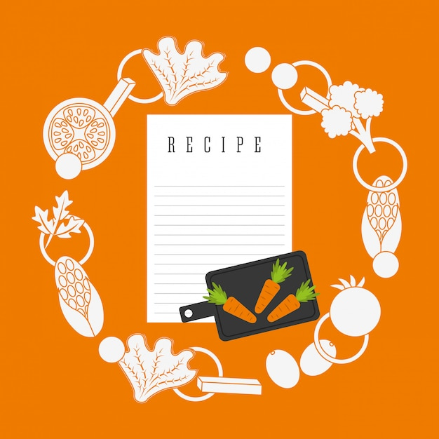 Cooking recipe Free Vector