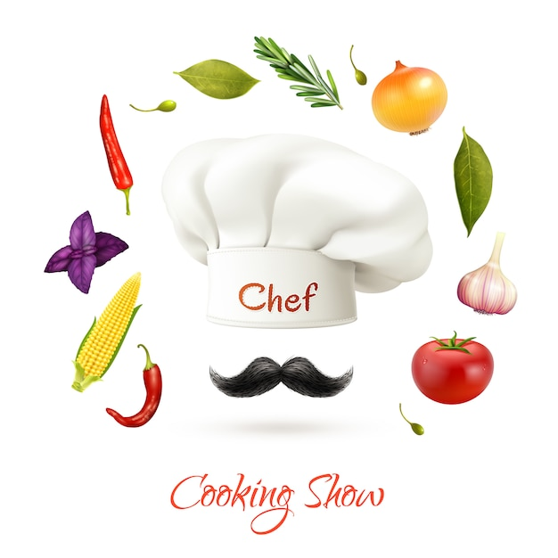 Cooking show concept Free Vector