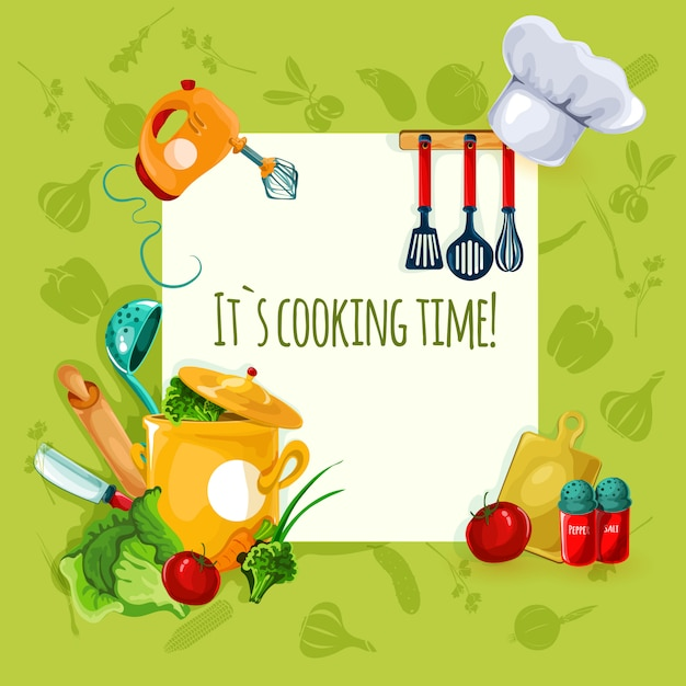 Cooking utensil background Free Vector