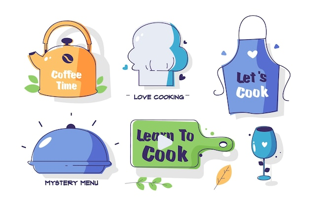 Cooking utensils collection Free Vector