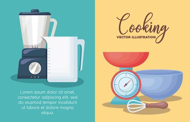 Cooking utensils Free Vector