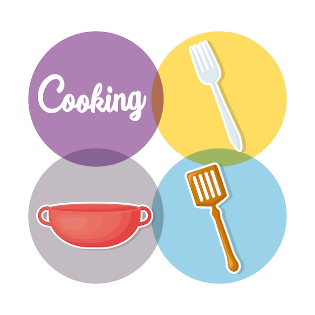 Cooking utensils Free Vector