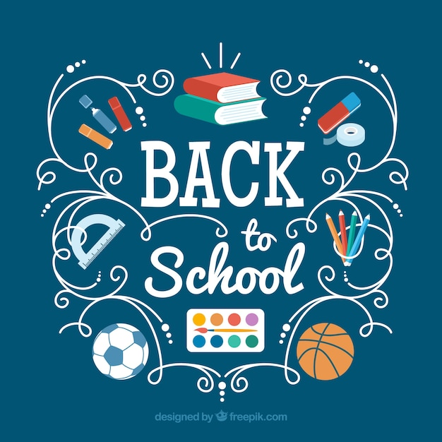 Cool Background For Health: Cool Background With School Materials Vector
