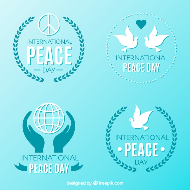 Cool badges for international peace day