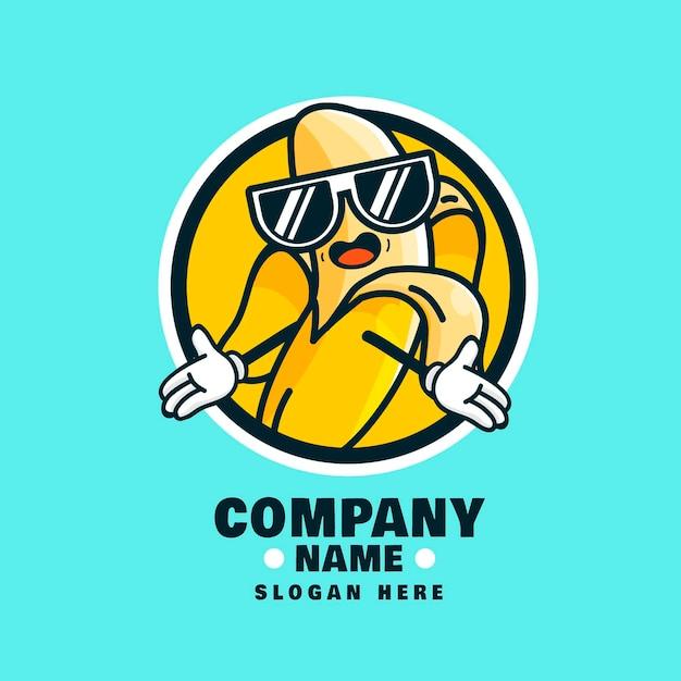Cool logo personaggio banana Vettore gratuito