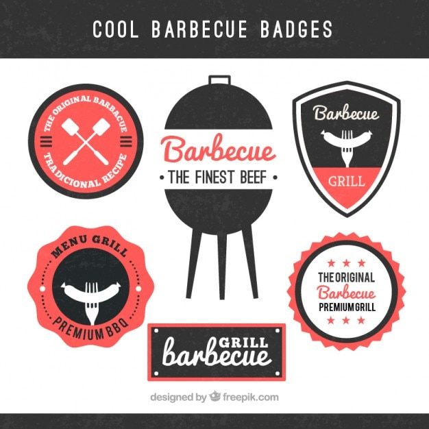 Cool barbecue badges