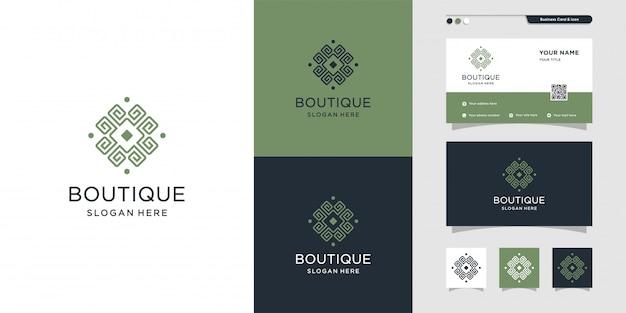Cool Boutique Logo And Business Card Design Beauty Fashion Salon Business Card Premium Premium Vector
