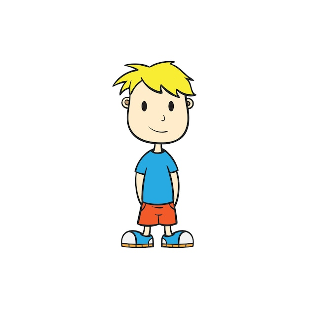 cool boy cartoon vector illustration vector premium download