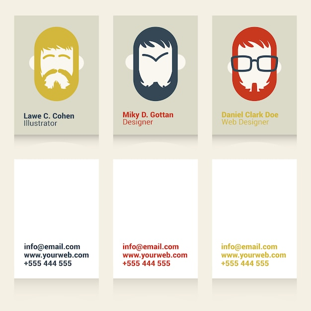 Cool Business Cards For Designers And Illustrators Vector