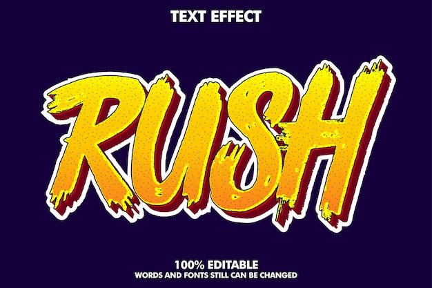 Cool carroon text effect Free Vector