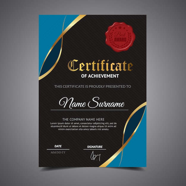 cool certificate template vector premium download