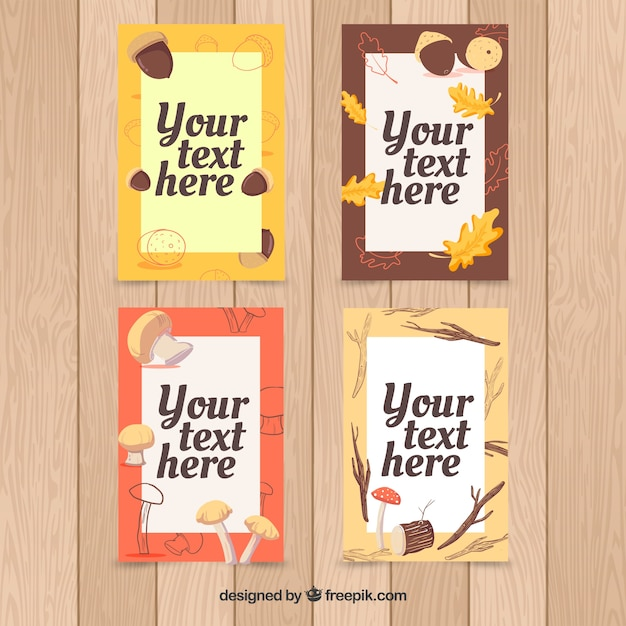 Cool collection of autumnal cards