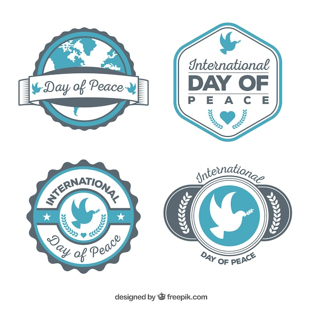 Cool collection of peace badges