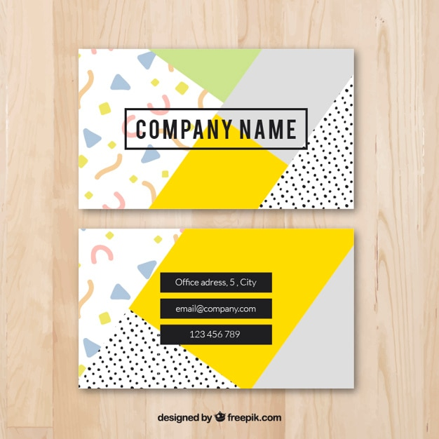 cool colorful business card template vector free download