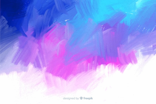 Cool colors abstract hand painted background Free Vector